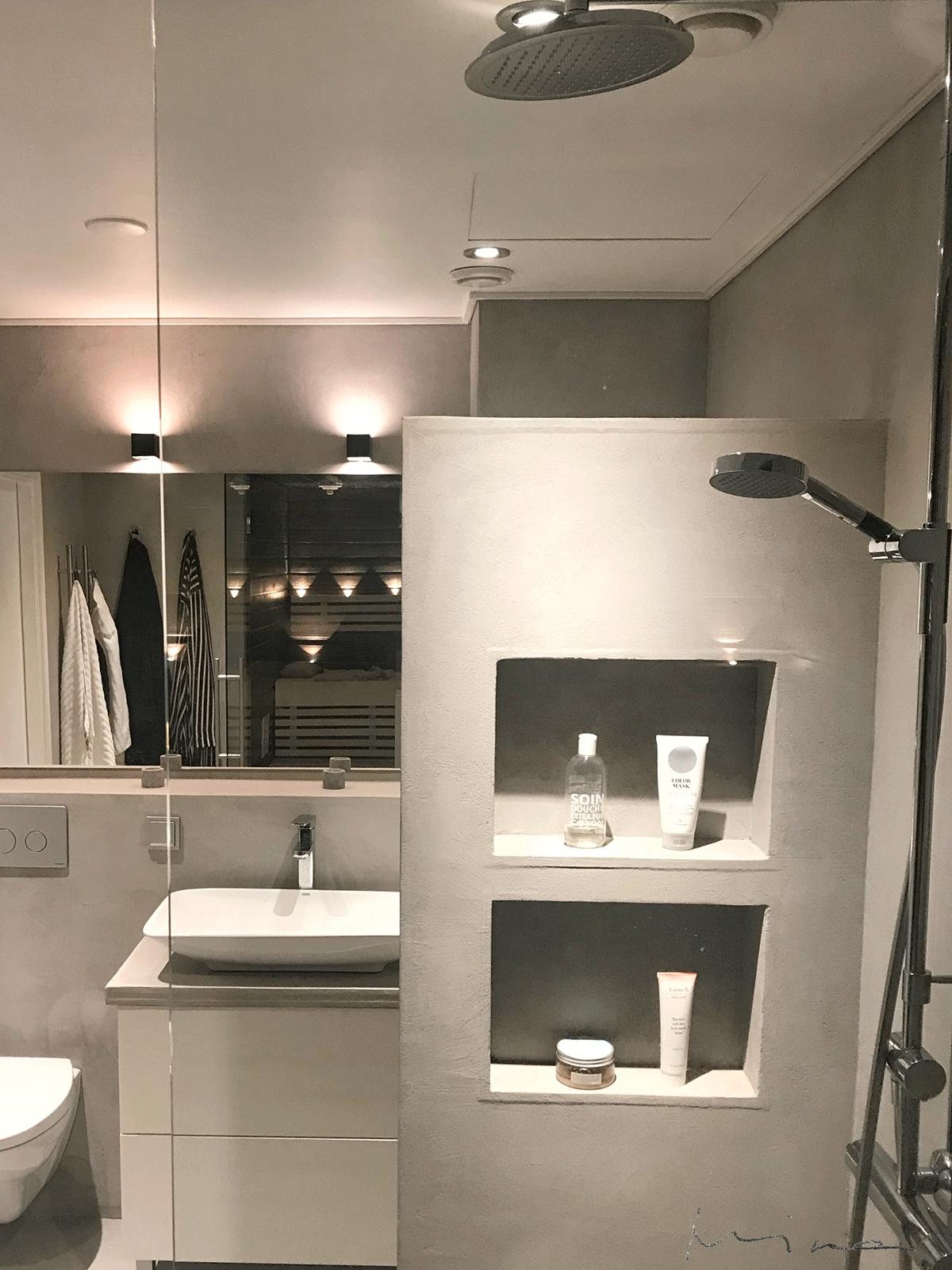Kylpyhuone ja sauna Pandomo